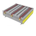 90º Pallet transfer one level - Same level transfer between roller & chain conveyors