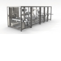 Flexible packaging line - Flexible line, fast changeover, without format parts.