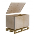 Reusable collapsible pallet box R61/P4 - The reusable collapsible R61/P4 pallet boxes are well suited for valuable or sensitive goods, as well as your international shipments.
