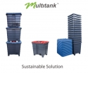 MULTITANK - Multitank is a returnable and reusable, watertight container designed to package, store and transport all kinds of products in bulk.