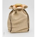Cotton bag with two drawstrings - Pochon with two drawstrings on collarette on hour dimensions.